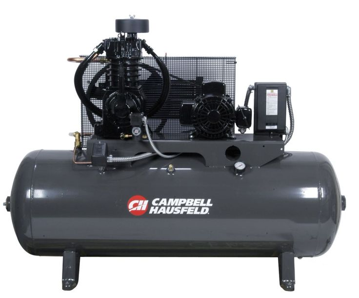 Campbell Hausfeld CE7052FP 230V 7.5HP Air Compressor with 80 Gallon Horizontal T Air Compressors Stationary Electric