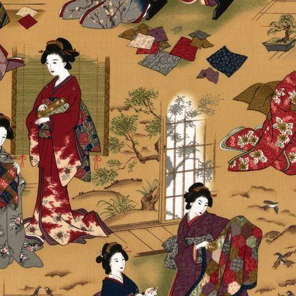 Robert Kaufman - Oriental Traditions 3 ES-5232-1 PARCHMENT