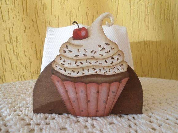 Cupcake - Porta Guardanapo
