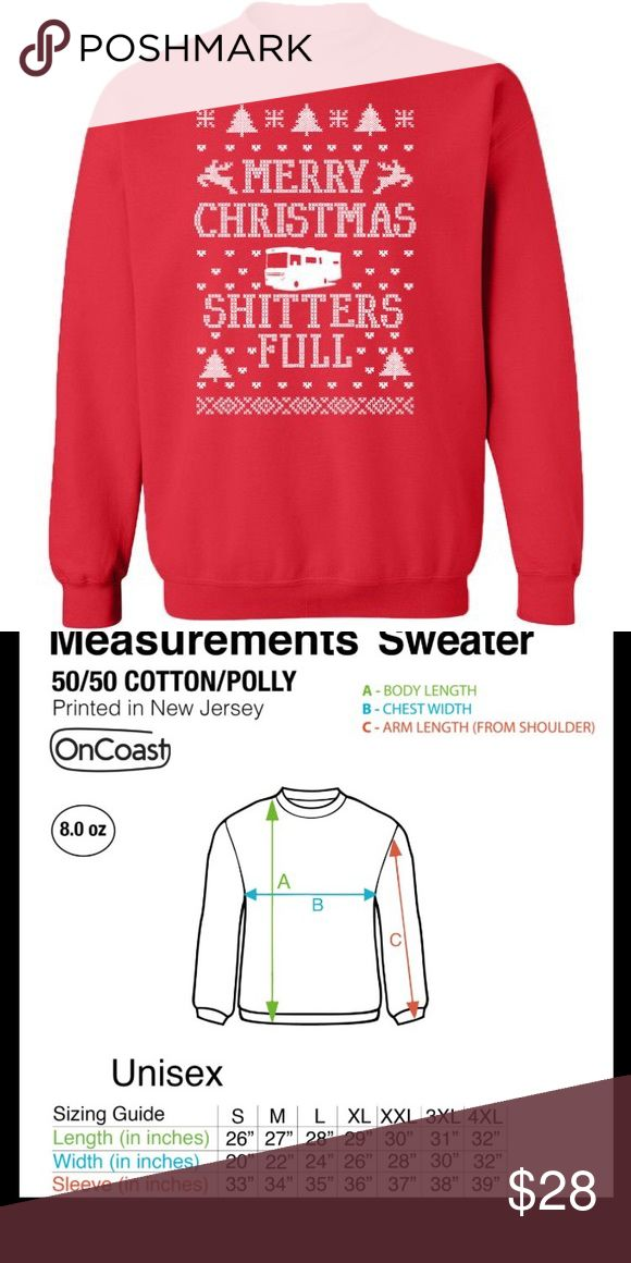 ❄️Merry Christmas sweater shitters full red white NWT in 2018 My