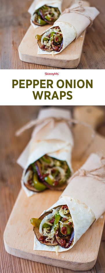 These Pepper and Onion Wraps  are the perfect detox meal! Pin to save recipe for lunch tomorrow. :)