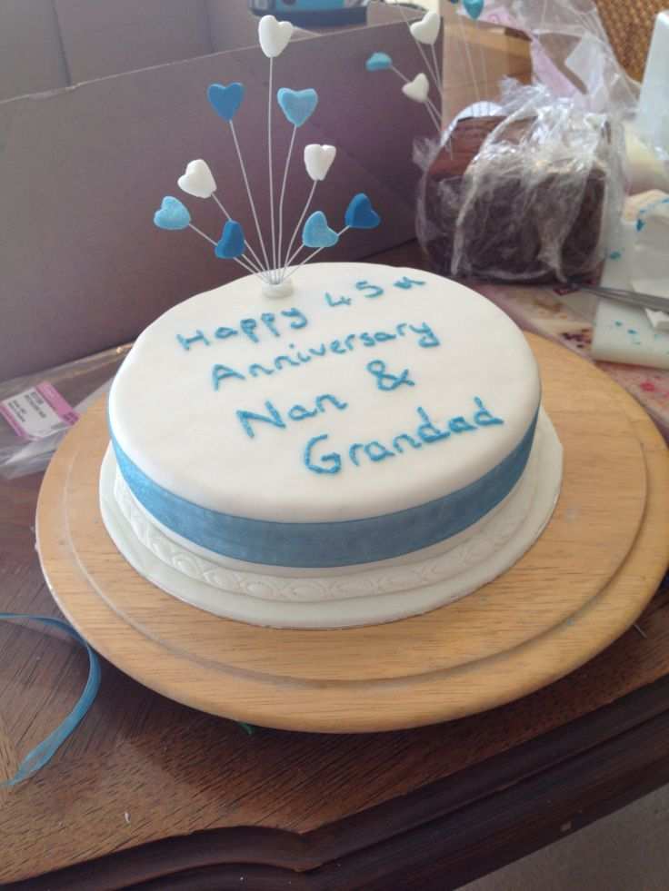 45th Saffire Wedding Anniversary Cake