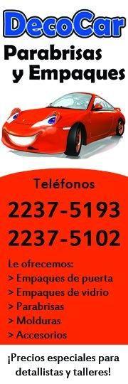 Con más de 20 años de experiencia, DECO CAR se dedica a la venta e instalación de parabrisas, empaques automotrices y accesorios para su automóvil. - http://desktopcostarica.com/directorio/deco-car-parabrisas-y-empaques