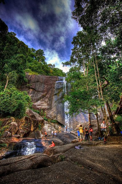 Temurun Waterfall - Langkawi, Malaysia. Cheapest place ever to hire a car, and waterfalls worth the drive.