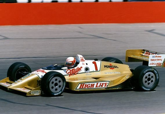 "1989 - Danny Sullivan's (#1) ""Miller High Life"" PC18 - Qualified: 26th, Speed 216.027 mph - Finished 28th - Rear Axle, Lap 41"