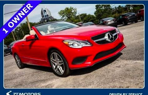 2014 Mercedes-Benz E350A Sport - $3,533 OFF! This fierce red convertible is sure to turn heads and look great in your driveway. Retail price $48,875, Pick of the Week price $45,342. Save over $3K on this beauty. She's Certified Pre-Owned to give you peace of mind. She has a clean CARFAX. The odometer is at just 4,500 miles – that's 19K miles below market average. To the beach, your daily commute, or road trip she's ready to take you on any adventure. And with 28/19 Highway/City MPG, she…