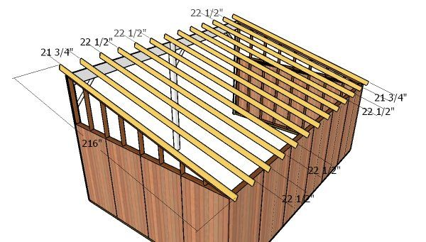 16x24 Run In Shed Roof Plans Howtospecialist How To Build Step By Step Diy Plans Run In Shed Shed Roof Roof Plan