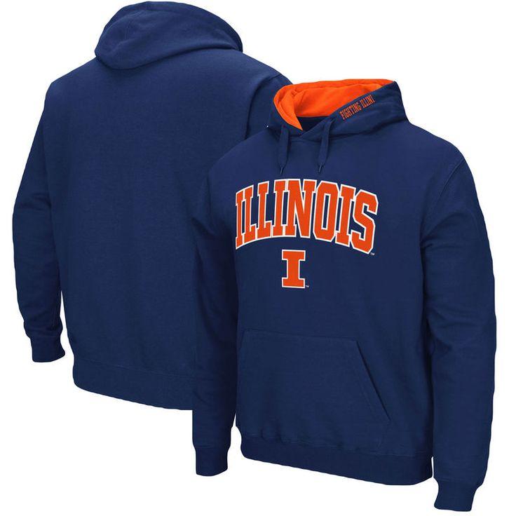 Illinois Fighting Illini Colosseum Arch & Logo Pullover Hoodie - Navy