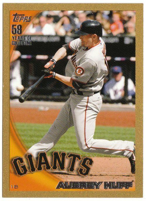 Aubrey Huff # US 196 - 2010 Topps Update Baseball Gold
