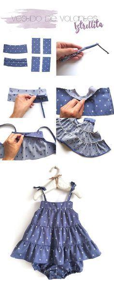 4 tutoriales de ropa de bebé de verano DIY
