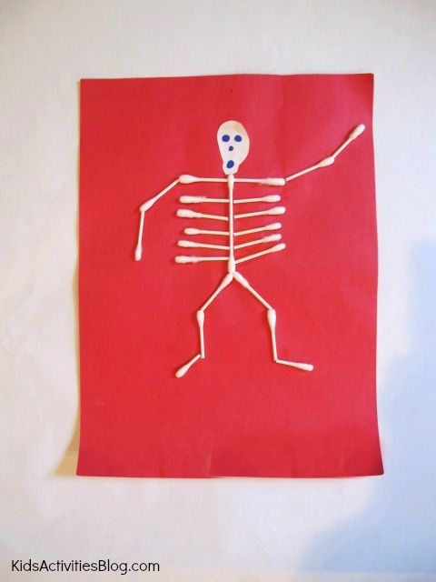 Human Body for Kids: Instead of using the skull, it would be cute to use a picture of the child and cut out the head and glue it to the body.