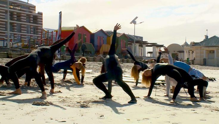 Beach Surf Yoga Muizenberg Cape Town Roll