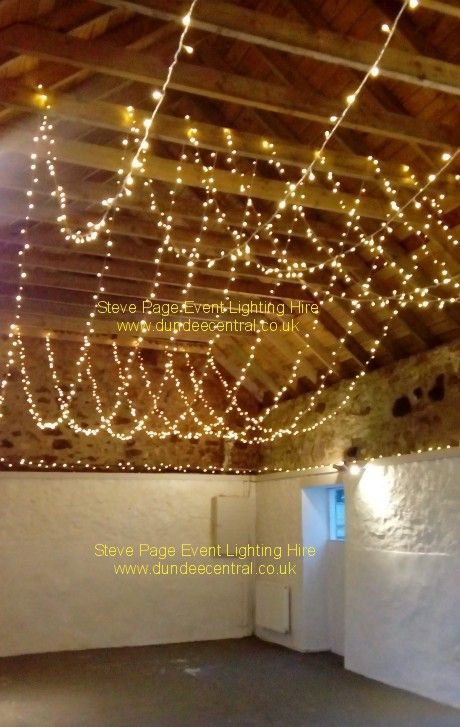 fairylights in the small barn at the Cow shed: www.dundeecentral.co.uk