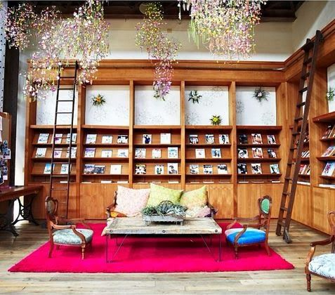 Cool home library via anthropologie blog mac for Cool home libraries