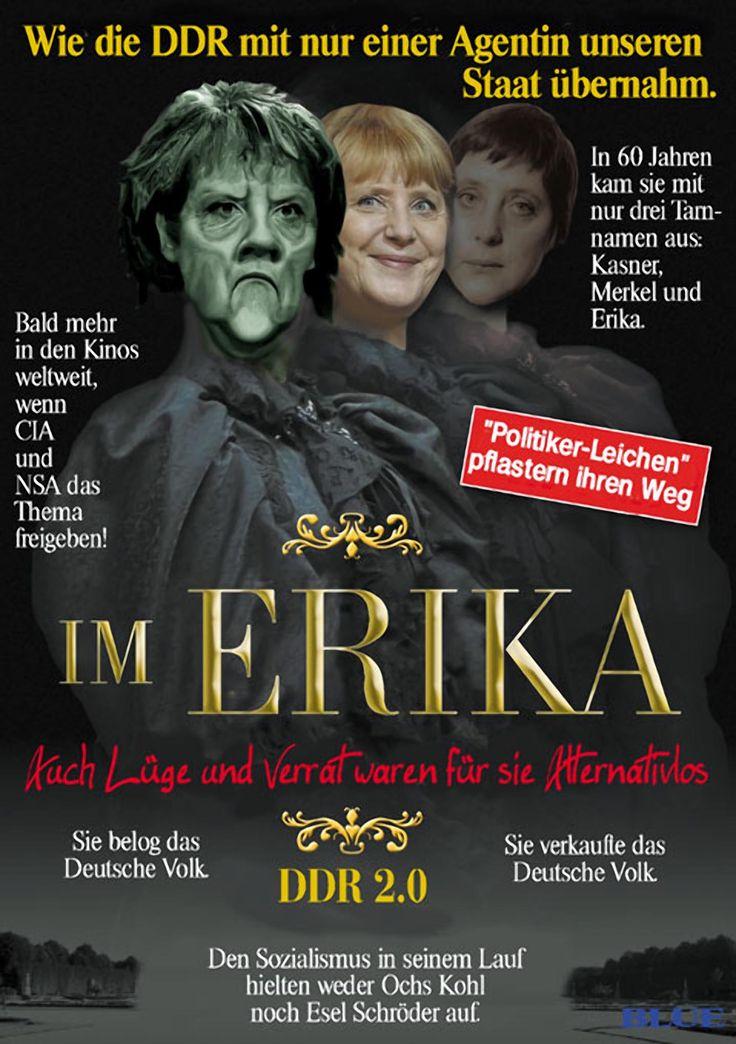 ❌❌❌ Die Zeit der Alternativlosigkeit könnte rasch der Vergangenheit angehören. Langsam aber sicher mehren sich die Anzeichen für das Ende der Merkel-Junta. Im Internet sind die Kritiken zu Merkel seit langem schon recht rüde. Langsam aber sicher gesellen sich auch die unteren Mainstreammedien zu den Kritikern. Natürlich wird auch ihre Stasi-Vergangenheit immer wider hervorgekramt, aber ihr Todesstoß dürfte vermutlich aus ihrer Flüchtlingspolitik erwachsen. ❌❌❌ #Europa #Merkel #Abschuss…