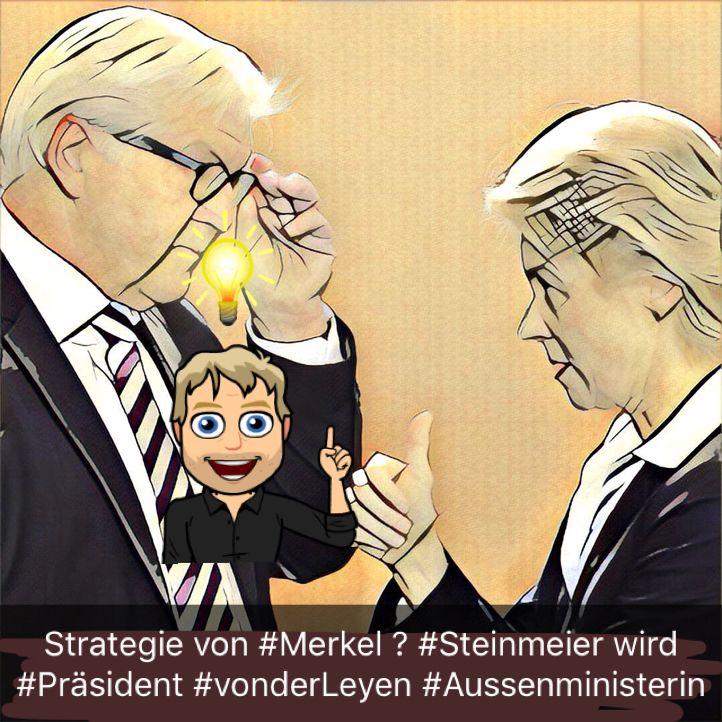 Die Strategie von Angela #Merkel geht auf. Frank-Walter #Steinmeier wird im Frühjahr neuer #Bundespräsident und Ursula #VonderLeyen wird dafür im Herbst #Aussenministerin. http://robertlangenbacher.blogspot.de/2016/11/die-strategie-von-angela-merkel.html