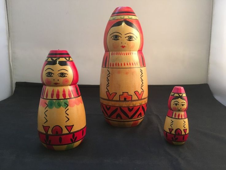 Vintage Russian Matryoshka Babushka Nesting Dolls – 3 pc. Set (Code:2017D) in Dolls, Bears, Babushka Dolls   eBay!