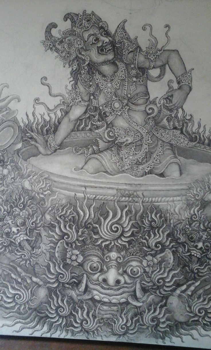 My grandfather's balinese traditional painting