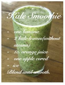 Kale smoothie, detox, great kid smoothie