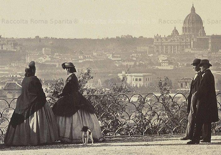 Foto Storiche Di Roma Panorama Dalla Terrazza Del Pincio