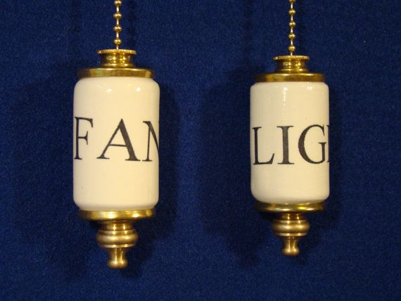 Fan & Light ceiling fan pull chain light by CROOKEDOAKCERAMICS, $16.00 (this might be best for someone like me,lol!)