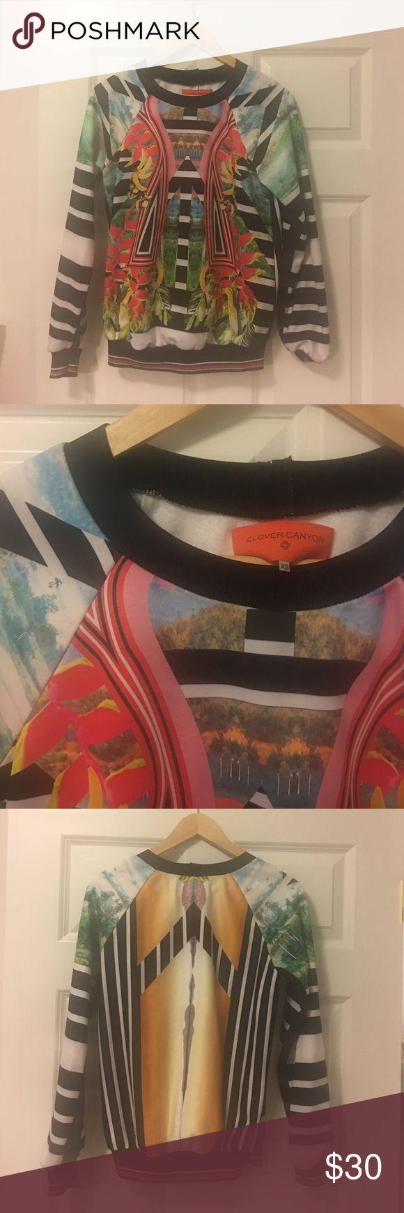 Clover Canyon Scuba Pullover Clover Canyon Printed Long Sleeve Pullover Clover Canyon Tops Sweatshirts & Hoodies