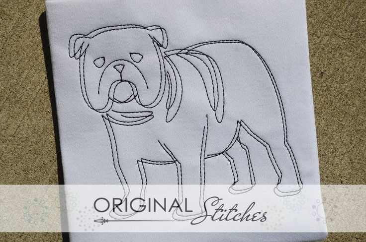 Bulldog - Quick Stitch, Machine Embroidery and Applique Designs Downloads | Original Stitches - Embroidery and Applique Design Store