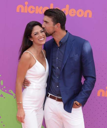 Celebrity PDA of 2017 - December 11, 2017:  Michael Phelps kissed wife Nicole Johnson at the Nickelodeon Kids' Choice Sports Awards in Los Angeles on July 13.