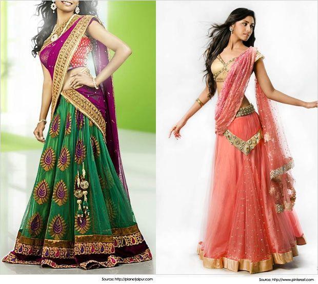Best 28 Half Saree Designs for Weddings | Latest Half Sarees