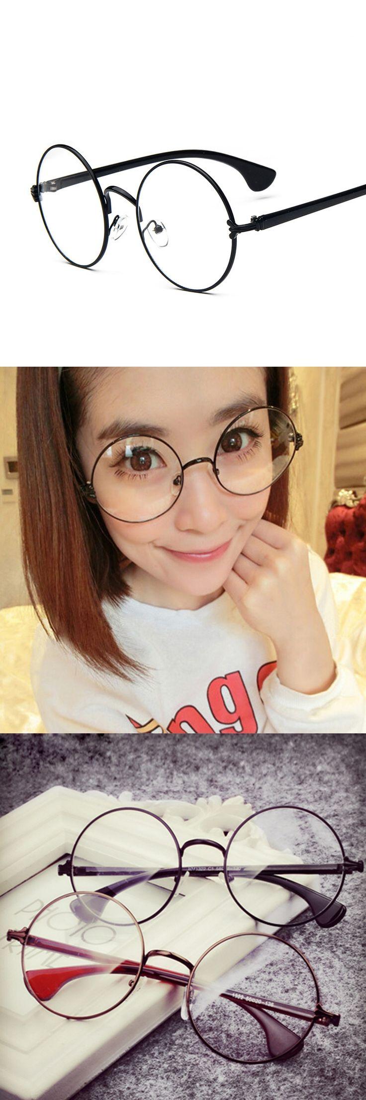 2017 New Retro Matal Glasses Frame Women Men Big Round Eyeglasses Optical Eye Glasses Frames Brand Eyewear Lentes opticos mujer