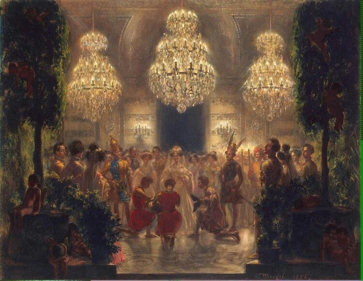 Presentation of Rewards to the Participants of the Festival  Adolph von Menzel - 1829
