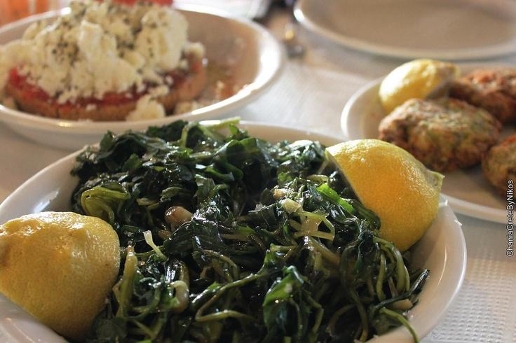 Cretan Cuisine-Stamnagathi (Greens)
