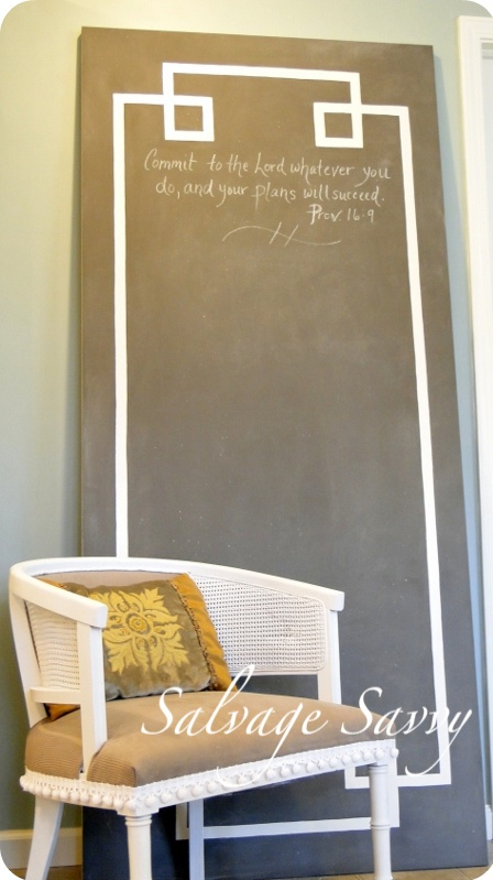 How to Make a Giant Chalkboard with style!: Idea, Chalkboards Paintings, Greek Keys, Hollow Cores Doors, Diy Chalkboards, Chalkboards Doors, Giant Chalkboards, Diy Projects, Chalkboards Wall