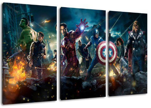 Marvel heroes painting on canvas  3 piece  Total Size  47 2  x20 best Marvel bedroom images on Pinterest   Marvel bedroom  . Marvel Bedroom. Home Design Ideas