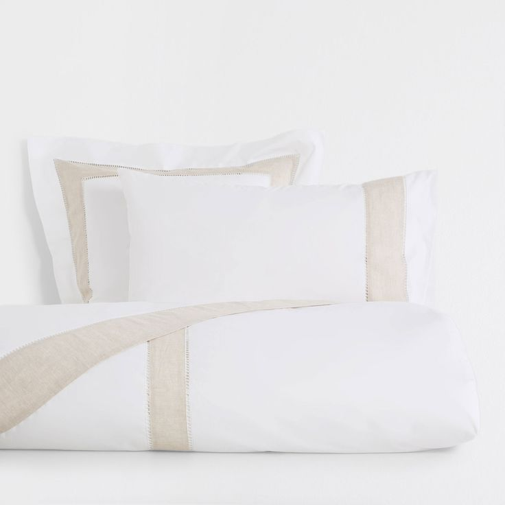 Image 1 of the product Contrasting natural linen duvet cover