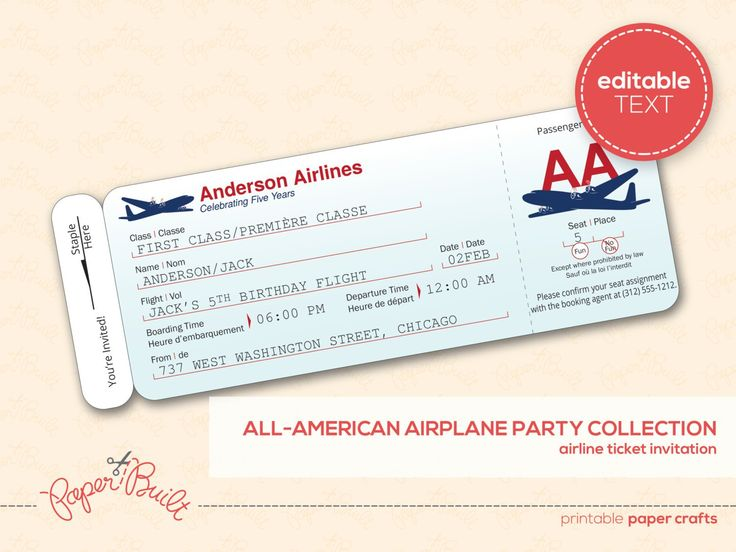 11 best Gift Certificates images on Pinterest Gift certificates - fake plane ticket template