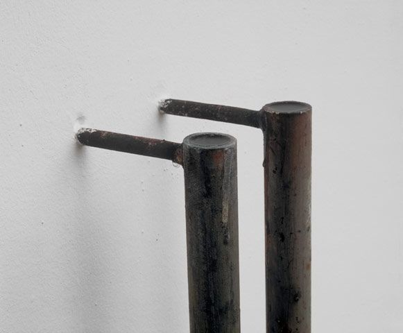 Miroslaw Balka 2 x (Diameter 3,5 x 167 x 12 cm); 1991; Steel and Salted Water