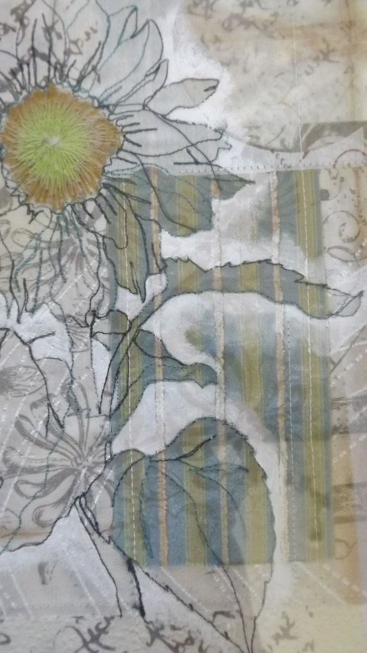 Jan Baker : Embroiderers Guild Exhibition- Screen print and Stitch