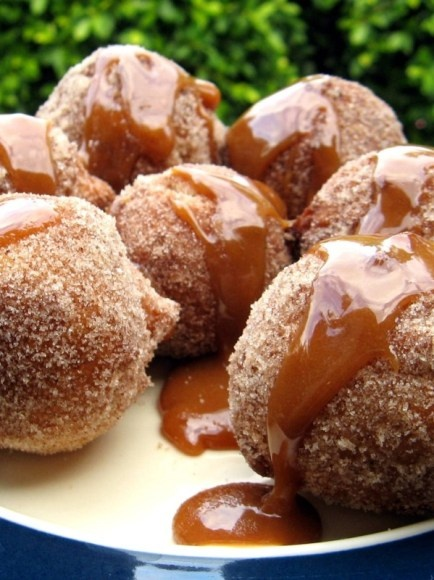 Cinnamon sugar carmel donuts! mmm the only time that I ever eat cinnamon and don't dislike it.