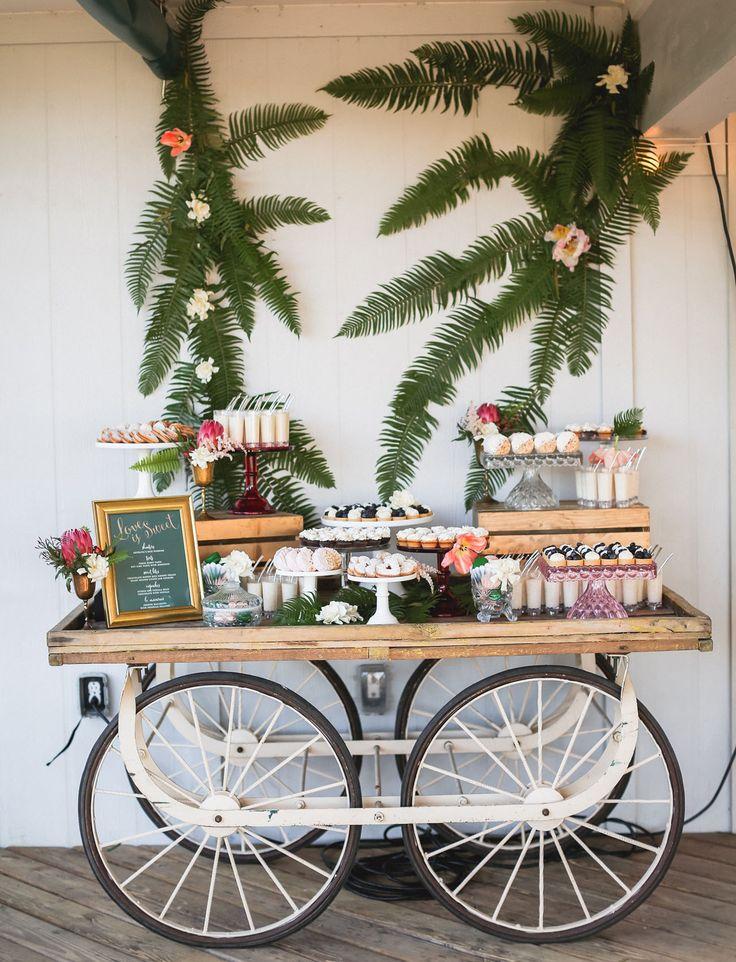 dessert table on wheels