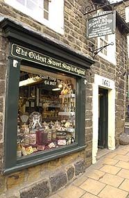 The oldest sweet shop in England, lots of sweeties and chocs inside.