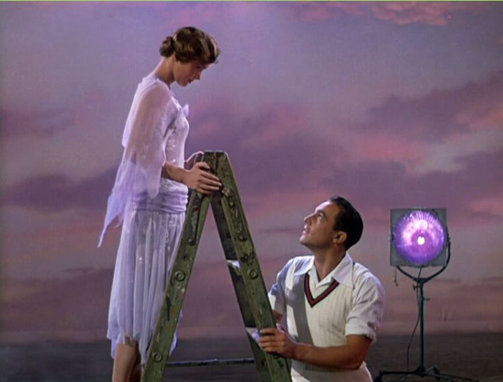 Debbie Reynolds and Gene Kelly Singing in the Rain