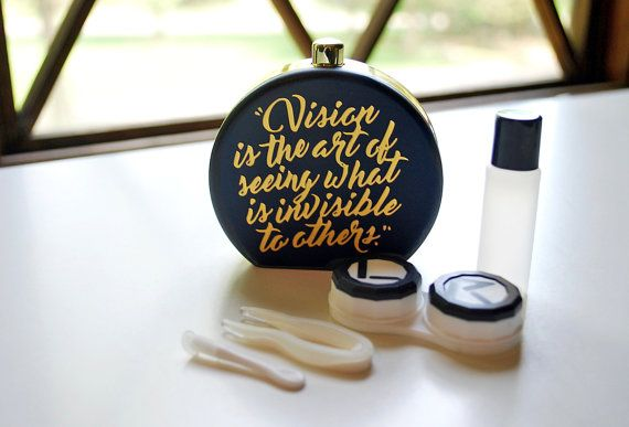 Contact Lens Case and Travel Kit:  Vision Quote Design by Sensible Style