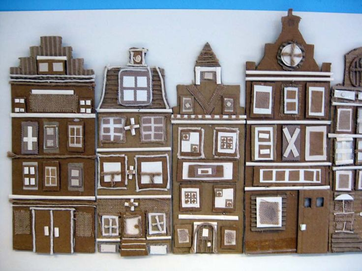 how to make a building model with cardboard