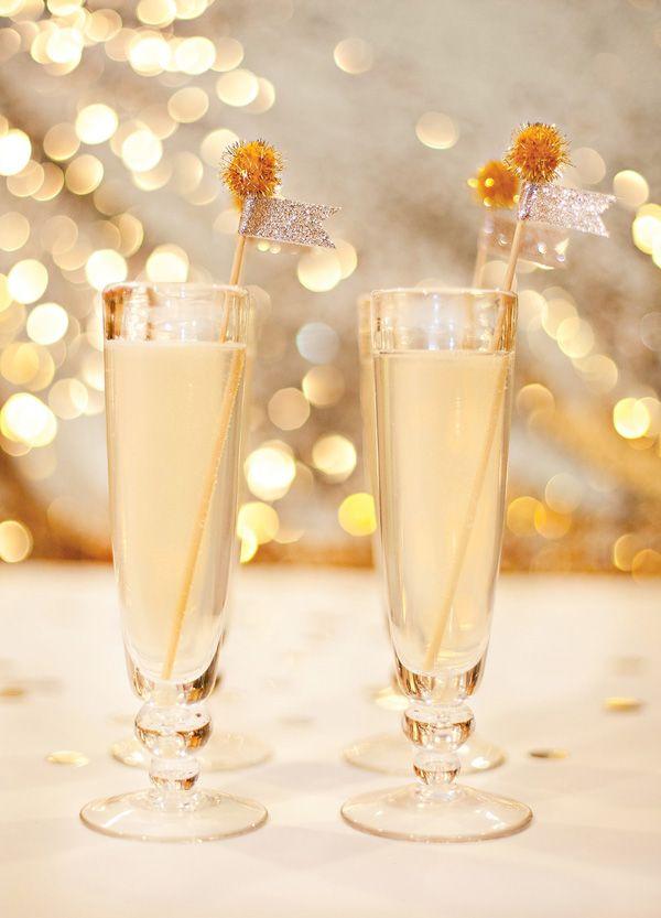 White Grape Sparkler for New Year's Eve