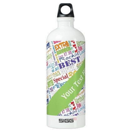 Unique And Special 30th Birthday Party Gifts Aluminum Water Bottle - birthday gifts party celebration custom gift ideas diy