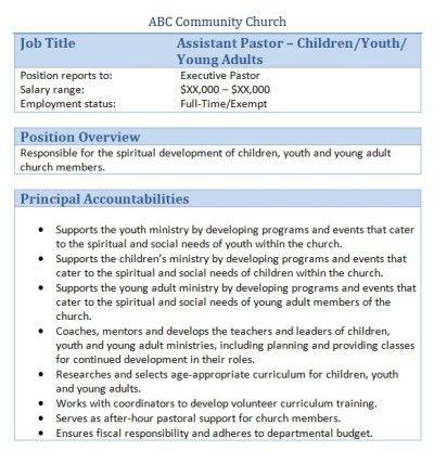 12 best church stuff images on Pinterest Job description - webmaster job description