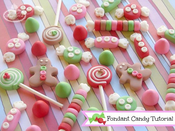 Colorful Fondant Holiday Candy - on Craftsy.com