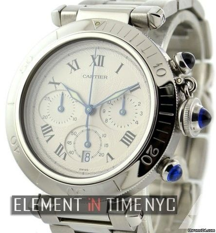Cartier Pasha Collection Pasha Chronograph Stainless Steel 38mm Ref. W31018H3 Price On Request