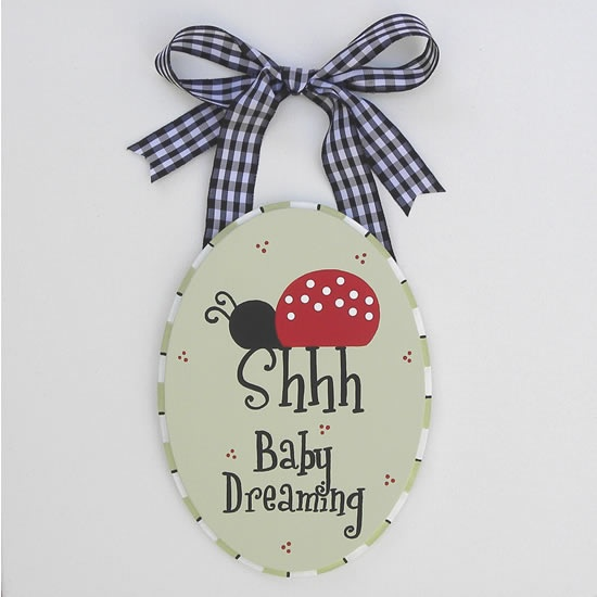 Ladybug Nursery Door Sign